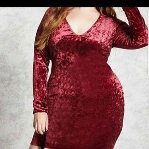 Forever 21 NWT crushed velvet dress 2X